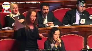 PAOLA TAVERNA (M5S) Finanziamento ai partiti - Non avete decenza