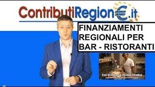 Contributo per Bar Ristoranti Commercianti Bando commerico Regione MARCHE 2014
