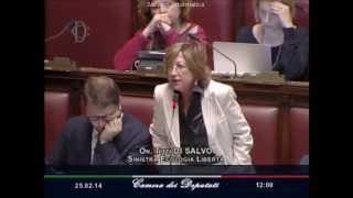 Titti Di Salvo: dichiarazione di voto contro fiducia al Governo Renzi